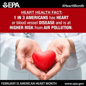 Take a moment this #HeartMonth to learn more heart health facts: http://www.epa.gov/air-research/healthy-heart-toolkit